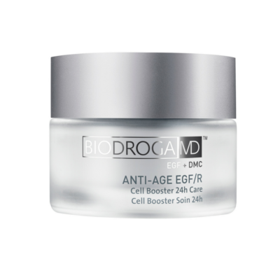 Biodroga MD Anti-Age EGF/R Cell Booster 24 Hour Care has a synergistic effect with the EGF Cell Booster Serum.