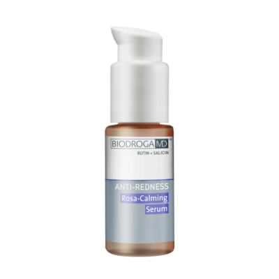 The Rosa-Calming Serum includes the innovative tetrapeptide Telangyn™ which helps counter inflammation.