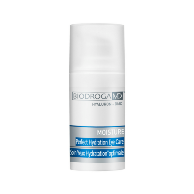 BIODROGA MD MOISTUREPerfect Hydration Eye Caregives the skin, around the eyes, what it needs most: intensive moisture from Hyaluronic Acid.