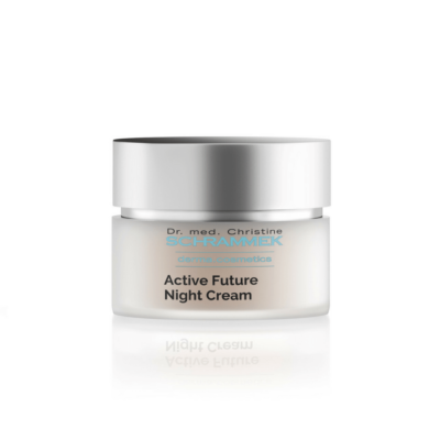 Dr. med. Schrammek Active Future Night Cream activates cell regeneration and prevents skin from loss of elasticity.
