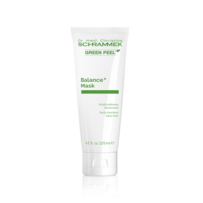 Dr. med.Schrammek Balance + Maskis a gentle, creamy mask that offers skin an intensive surge of moisture, stabilizes skin's natural defense functions, and protects cellular DNA against UV radiation by regenerating cells.