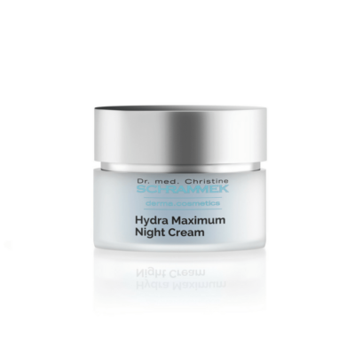 Dr. med. Schrammek Hydra Maximum Night Creamis a rich cream and provides skin with intensive moisture overnight.