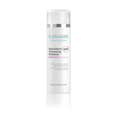 """Dr. med. Schrammek Sensiderm Cleansing Solution(with Micell water) is a """"3 in 1"""" product: Cleanser, makeup remover, and toner."""