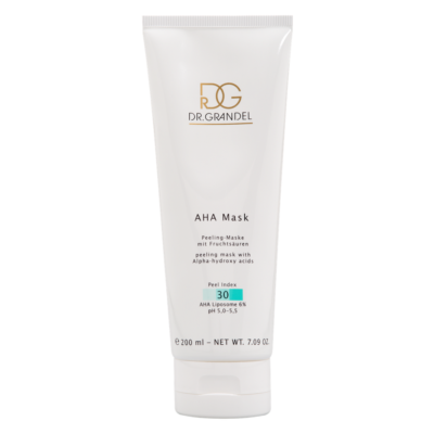 Dr. Grandel AHA Mask - 6% AHA provides a relaxed feeling on the skin, visibly refines the skin's surface and results in a fresh and smooth looking skin.