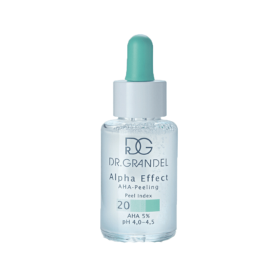 Dr. Grandel Alpha Effect 20, 5% AHA, is ideal for all skin types, including sensitive skin. It refines, balances and regenerates.