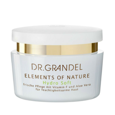 DR. GRANDEL Elements of Nature HYDRO SOFT provides skin with rich, long-lasting moisture. Skin feel less tight and smooths rough, flaky areas.