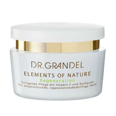 Dr Grandel Elements of Nature Regenerationis a firming face cream with Vitamin E & Bioflavones toimprove the structure and elasticity of mature skin