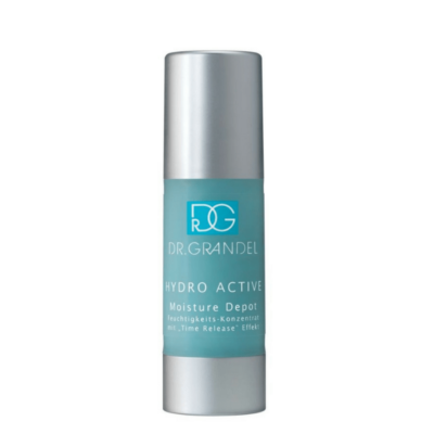 """Dr. Grandel Hydro Active Moisture Depotis a highly active moisturizing concentrate with a long-lasting effect. A """"depot system"""" provides maximum moisture."""
