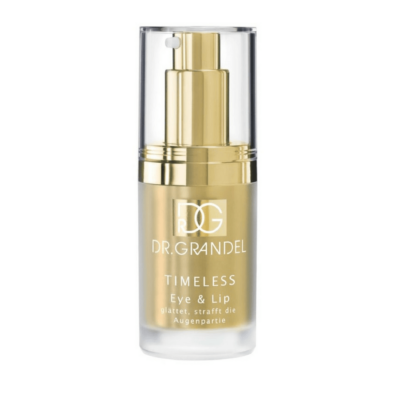 Dr. Grandel TIMELESS Eye and Lip Firmer. Repairs damaged caused by the environment and protects against negative external factors.