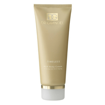 Dr. Grandel TIMELESS Rich Body Cream. Firms, smoothes and rejuvenates contours. Wholesale pricing available. 800-729-1242.