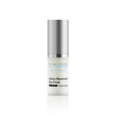 Dr. med. Schrammek Hydra Maximum Eye Fluid is moisturizing and reduces fluid and puffiness. It reduces fine lines and wrinkles and provides and ideal base for eye makeup.