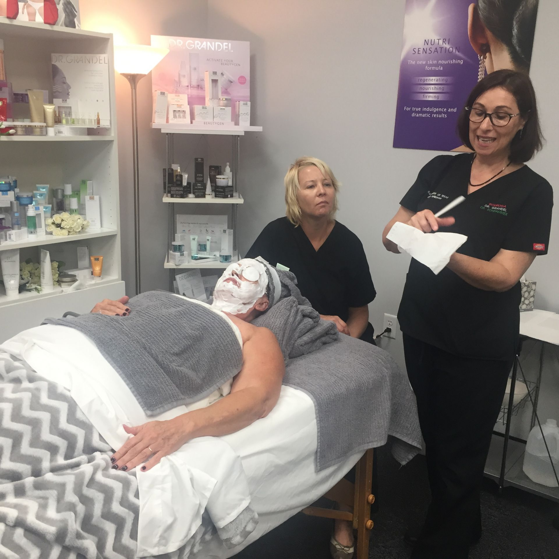 masks, ampoules special treatments for estheticians