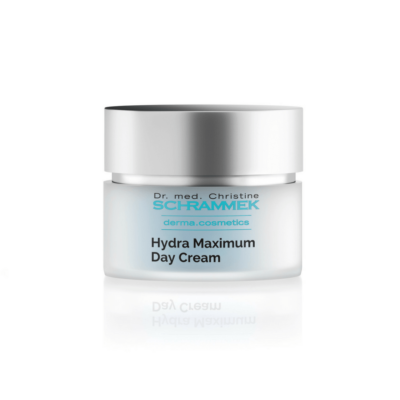 Dr. med. Schrammek Hydra Maximum Day Cream supple cream contains maximum moisturizing factors that help store moisture and protect the skin with valuable natural oils.